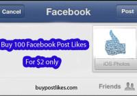 buy 100 FB post likes