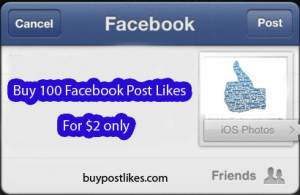 buy 100 FB post likes