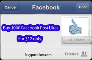buy 1000 facebook post likes