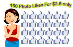 buy 150 photo likes