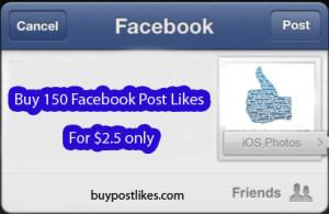 buy 150 post likes