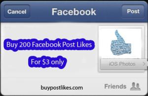 buy 200 post likes