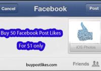 buy 50 facebook post likes